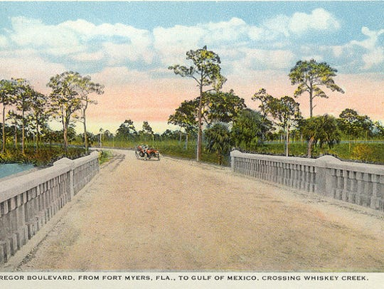 This picture postcard illustration is of McGregor Boulevard