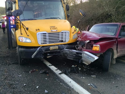 Deputies respond to non-injury school bus crash on Sunnyview Road NE