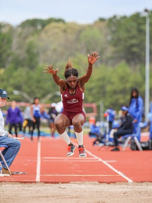 Junior Adriunna Brown is the reigning Sun Belt champion in the long jump and has taken first place this season in three different events, the triple jump, long jump and 400m hurdles.