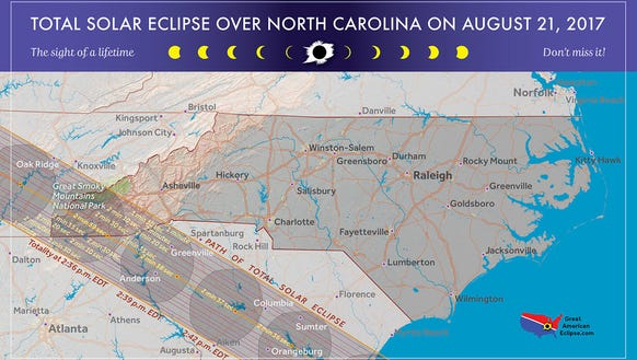 The total solar eclipse will sweep across Western North