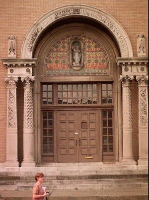 A door at the Clifton Center.