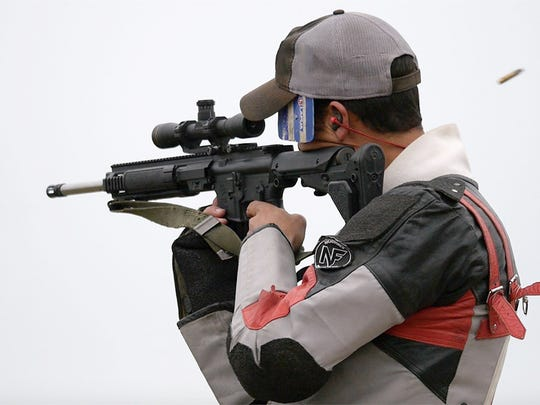 Nick Till was the overall winner of both the EIC and 800 Aggregate service rifle matches on Viale Range.