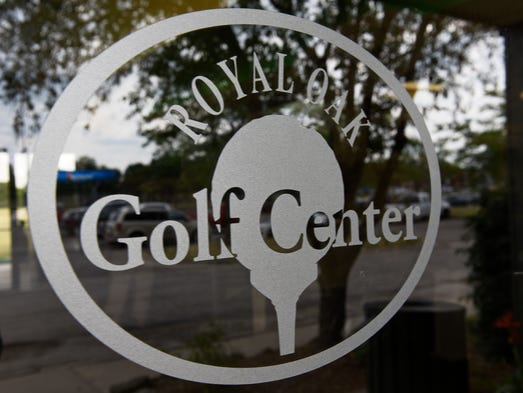 Logo outside on the front door of the range of The