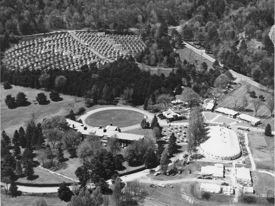 The IBM Tent City on the grounds of the Homestead in