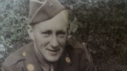 Pfc. Wayne Clark in late 1944 before shipping out to