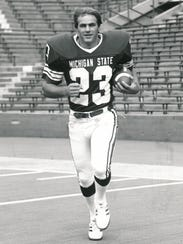 Michigan State wide receiver Kirk Gibson during his