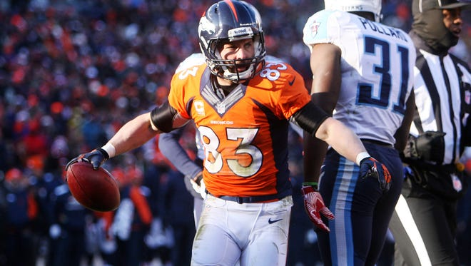 Broncos receiver Wes Welker hasn't played since suffering a concussion Dec. 8.