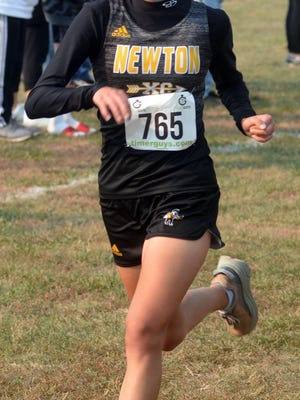 Newton freshman Isabel Sandoval finished 22nd Saturday at the AV-CTL I cross country championships at Centennial Park. The Railer girls finished sixth in the team standings.