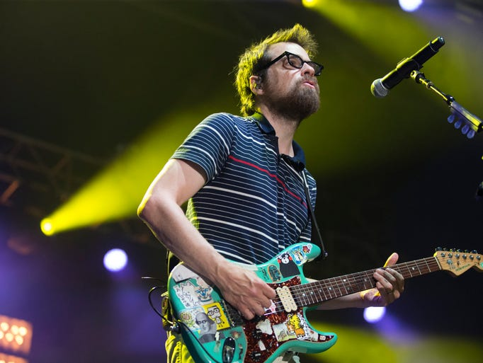 Weezer performs Saturday, July 11, 2015 at the 80/35