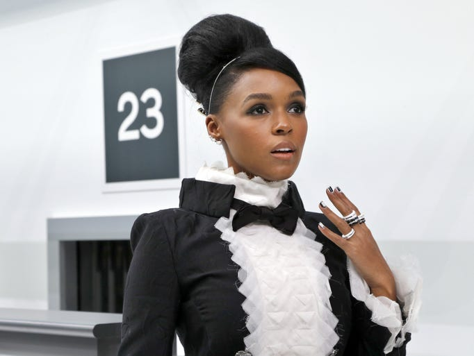 US singer Janelle Monae poses before the Chanel 2016