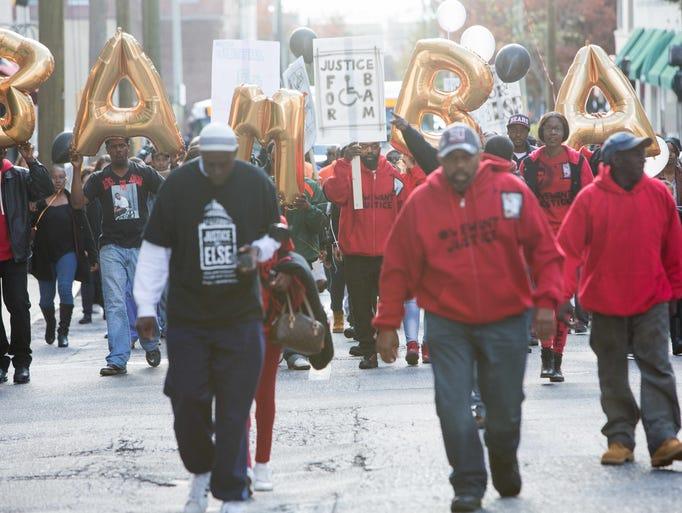 "Jeremy ""Bam"" McDole's family holds a march down Orange"