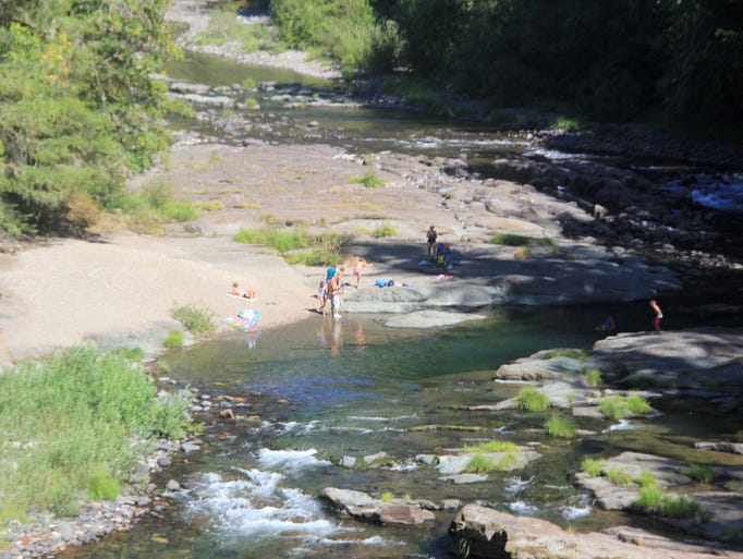 The swimming area at Cascadia State Park along the