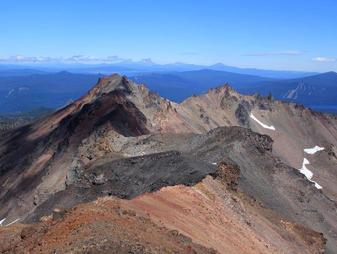 The long spine of Diamond Peak, looking northeast toward
