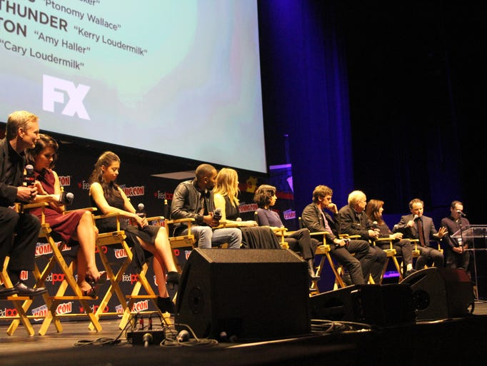 """The cast of FX's """"Legion"""" speaks during a panel at"""
