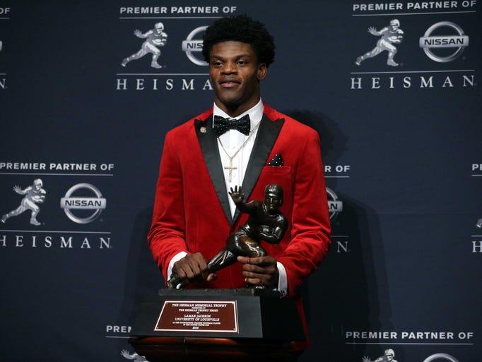 Louisville quarterback Lamar Jackson won the Heisman
