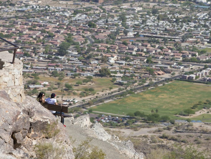 South Mountain Park in Phoenix is the largest municipal