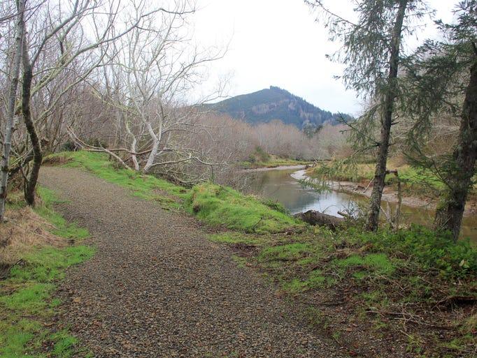 The Alder Island Nature Trail at Siletz Bay National