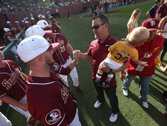 Former Seminole J.D. Drew meets the current team after