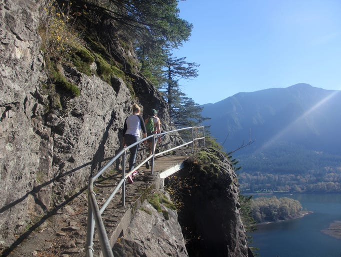 Beacon Rock State Park offers a trail up the volcanic