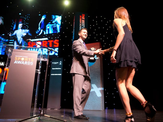 Student-athletes from Collier County accept their awards