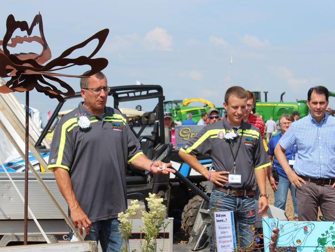Opening ceremony at Farm Technology Days in Kewaunee