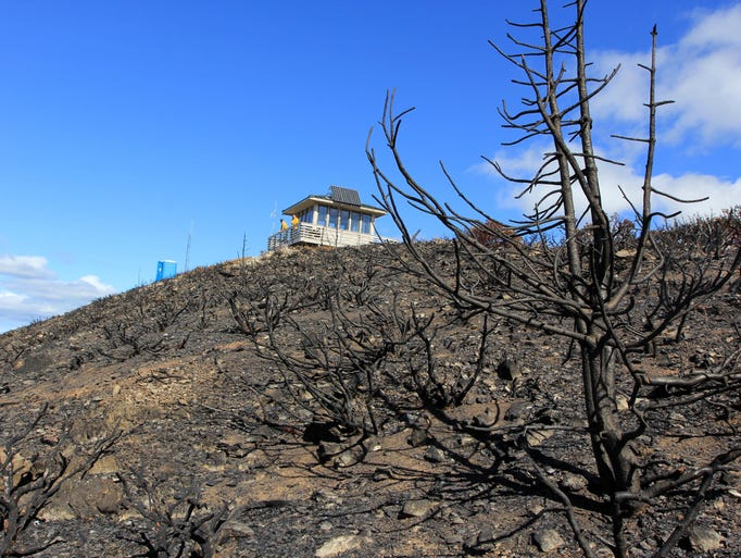 Snow Camp Mountain was severely burned by the Chetco