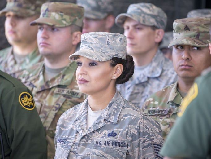 The first wave of National Guard service members arrived