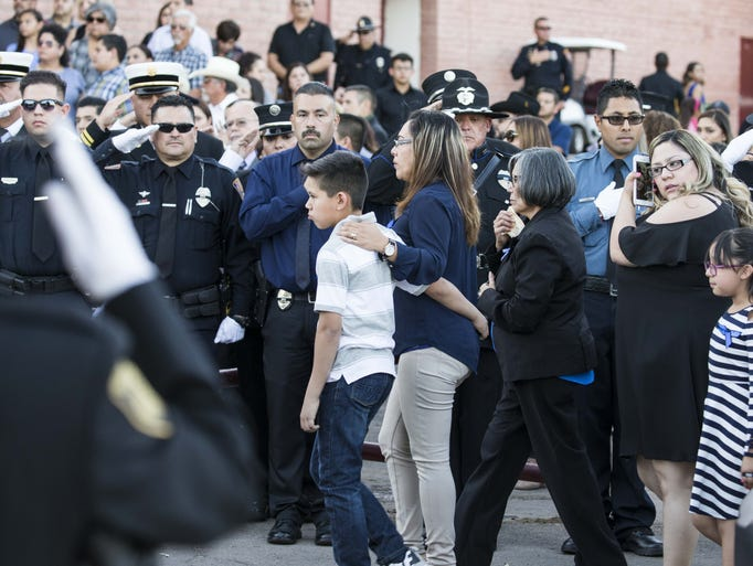Jesus Cordova family were saluted by law enforcement