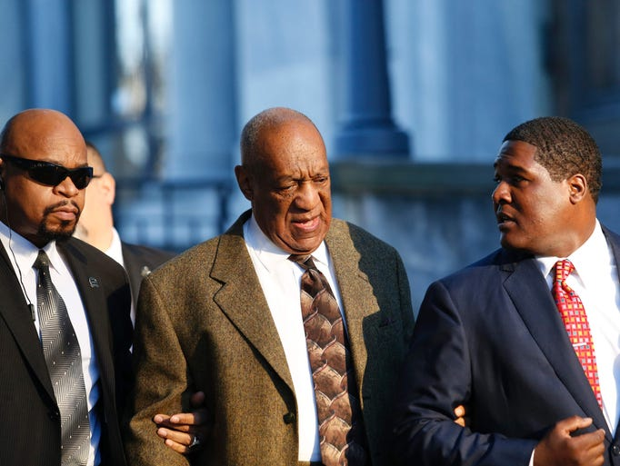 US comedian Bill Cosby arrives to the Montgomery County