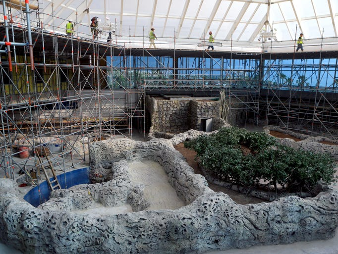 Update of the caribbean journey wing as construction continues for Construction aquarium
