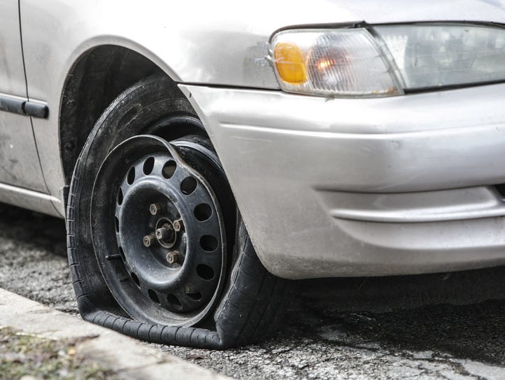The city of Indianapolis has received hundreds of pothole
