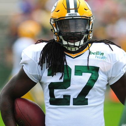 """Green Bay Packers running back Eddie Lacy said he was """"nervous every time going out"""" last season during his 1,178-yard rookie campaign."""