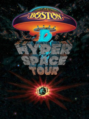 A tour poster for Boston's brand-new Hyper Space Tour