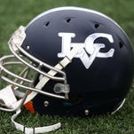 Lebanon Valley College helmet before the Dutchmen's final home game against King's College on November 7.