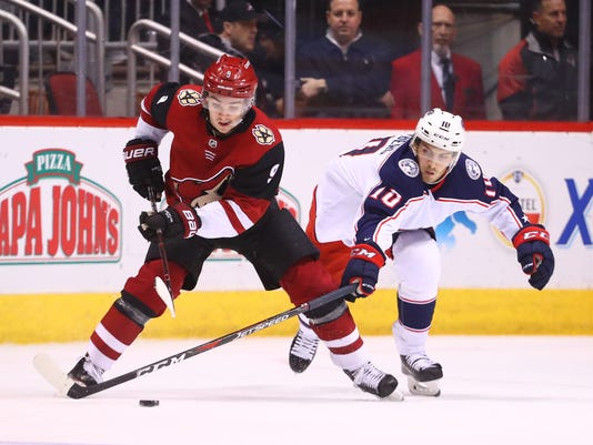 NHL: Columbus Blue Jackets at Arizona Coyotes