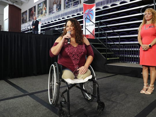Danielle Hagmann was honored as the Hero of the Year