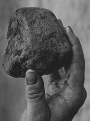 The baseball-sized rock removed from Bingo the elephant's