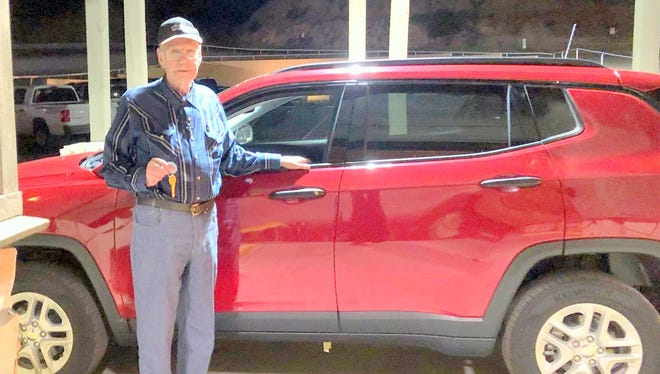 Joe Hayhirst won a Jeep Compass in a promotion at Billy the Kid Casino.