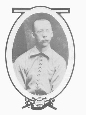 Cincinnati Reds pitcher Will White. He played for the Reds from 1876-79. The Reds joined the National League on Feb. 2, 1876.
