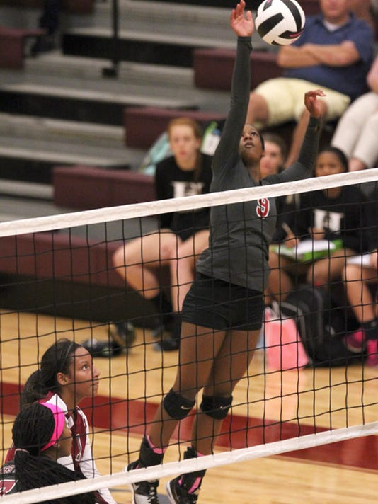 T.L. Hanna volleyball beat Westside 25-11, 25-6, 25-21 in William M. Roberts Gymnasium at Westside High School in Anderson.