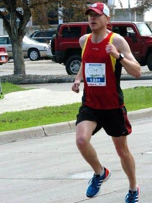 Jay Pennington at the 2013 Fargo Marathon.