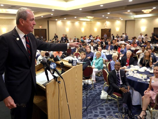 Democratic gubernatorial candidate Phil Murphy speaks