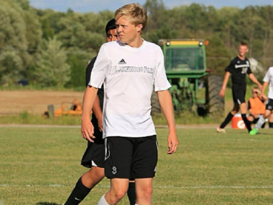 Lakeland Park Christian School soccer player Bradey Gerke.