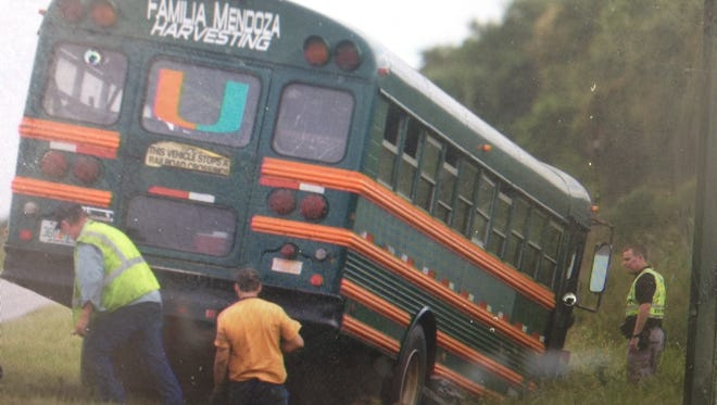 19 people were injured in a bus vs  car crash on County road 846 past the Hendry County line
