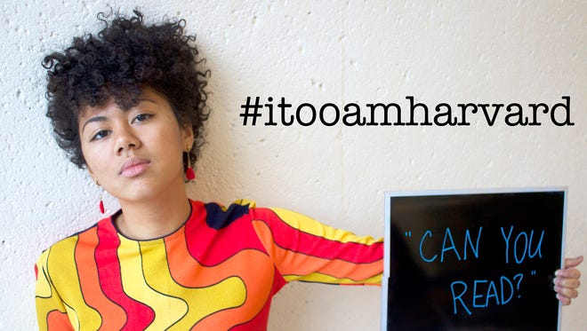 "A photo from from the ""I, Too, Am Harvard"" campaign."