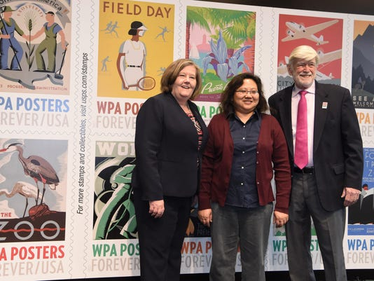 WPA stamps unveiling