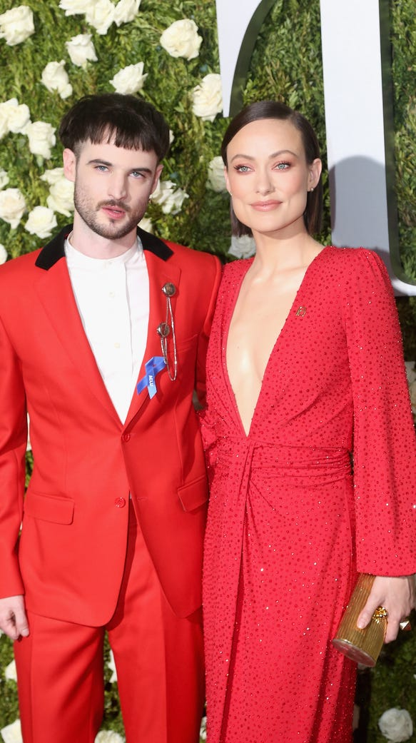 Tom Sturridge and Olivia Wilde attend the 2017 Tony