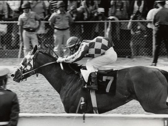 Riva Ridge, who finished fourth in the 1972 Haskell at Monmouth Park, shown winning the Kentucky Derby that year.