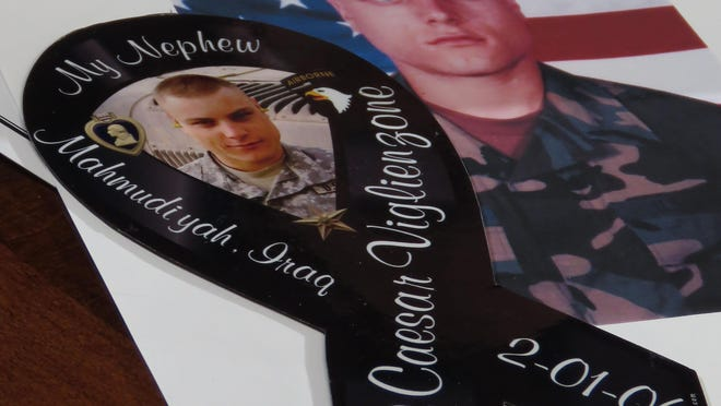 Caesar Viglienzone was a member of the 101st Airborne and was killed in Iraq in February of 2006 by a IED.