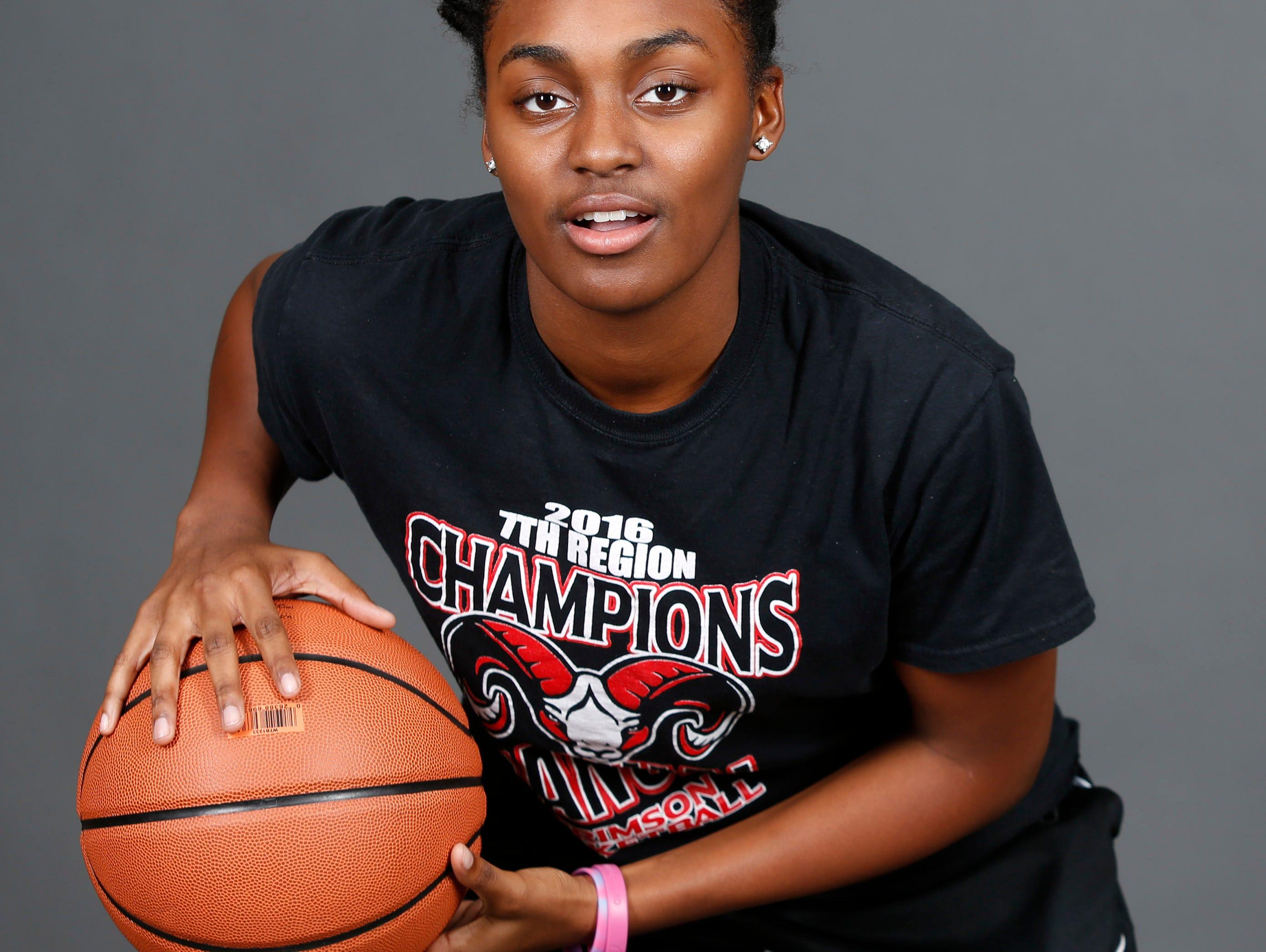 DuPont Manual High School basketball player Jaela Johnson. Nov. 7, 2016.